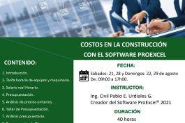 Curso Costos en la Construcción con el Software PROEXCEL