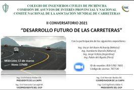 """II Conversatorio 2021: """"Desarrollo Futuro de las Carreteras"""""""