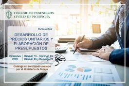 Desarrollo de precios unitarios y elaboración de presupuestos