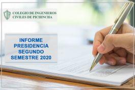 Informe Presidencia CICP segundo semestre 2020 VMR