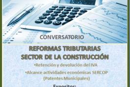"""INVITACIÓN - Conversatorio """"Reformas Tributarias, Sector de la Construcción"""""""