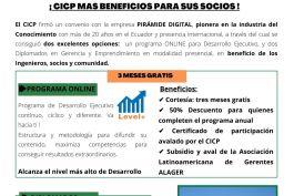CICP y Pirámide Digital (Empresa pionera en la industria de conocimiento) firmaron un Convenio de Beneficios y Desarrollo para los Profesionales agremiados.