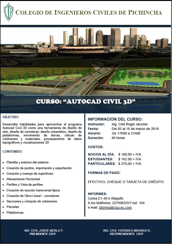 Curso: AutoCAD Civil 3D