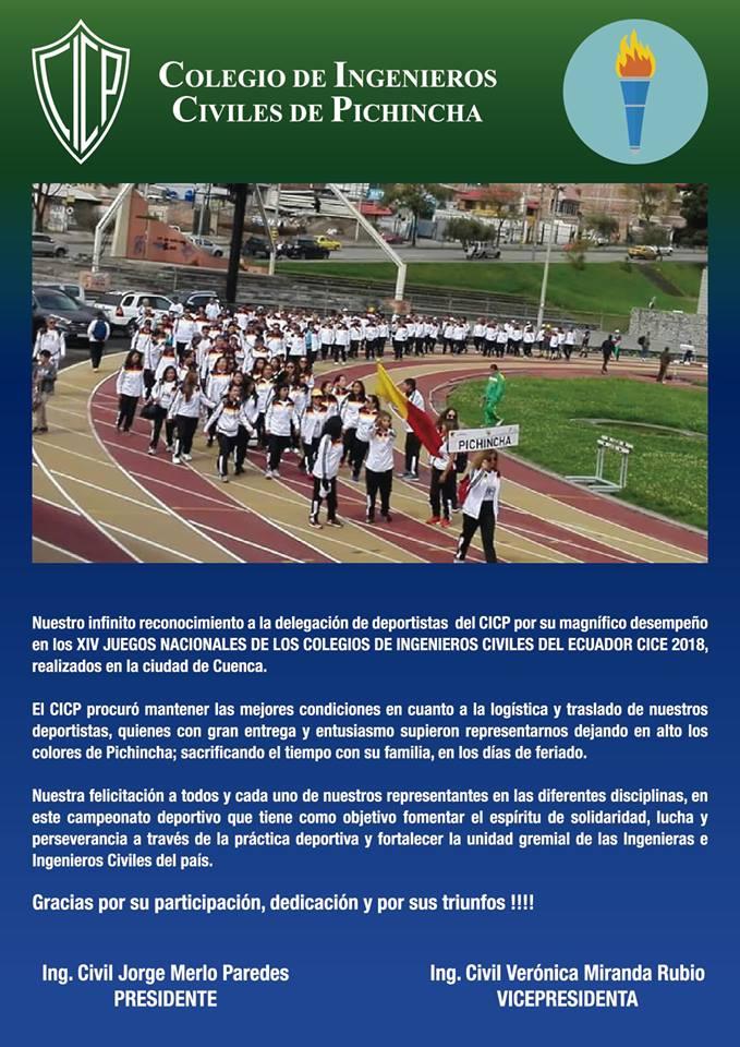 Participacion En Los Juegos Nacionales Cice 2018