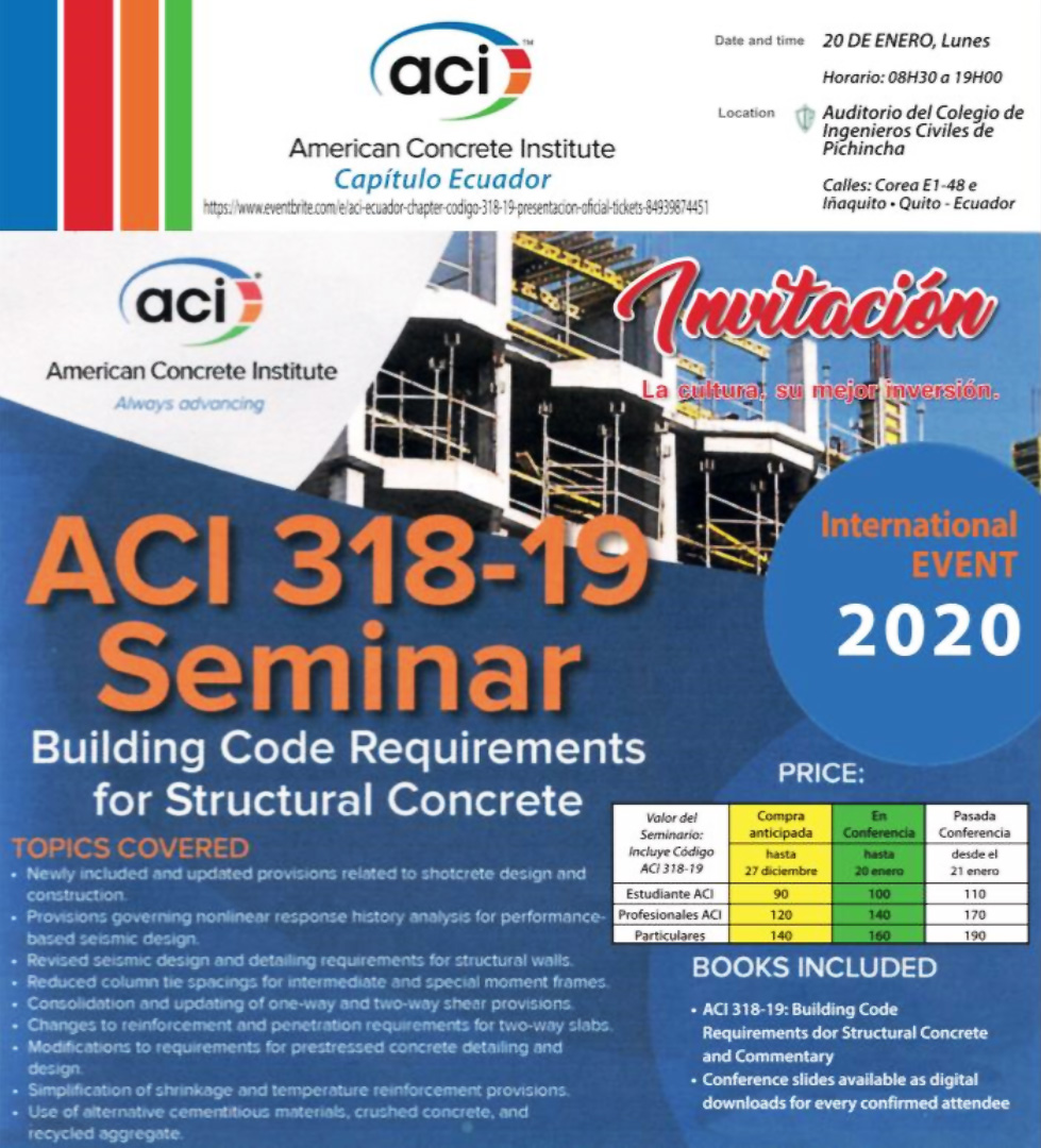 ACI 318-19 Seminar: Building Code Requirements for Structural Concrete