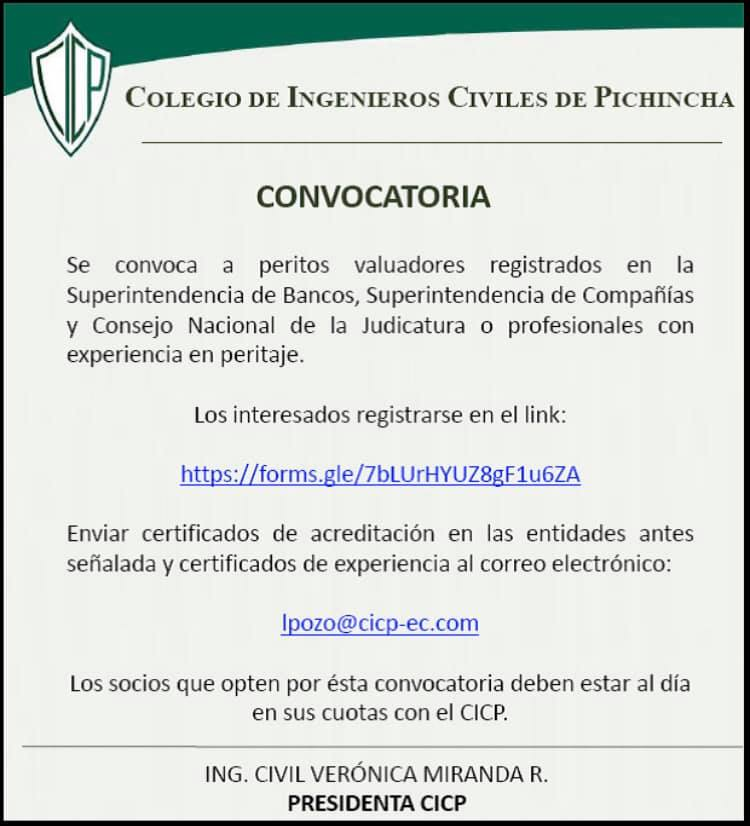 convocatoria peritos